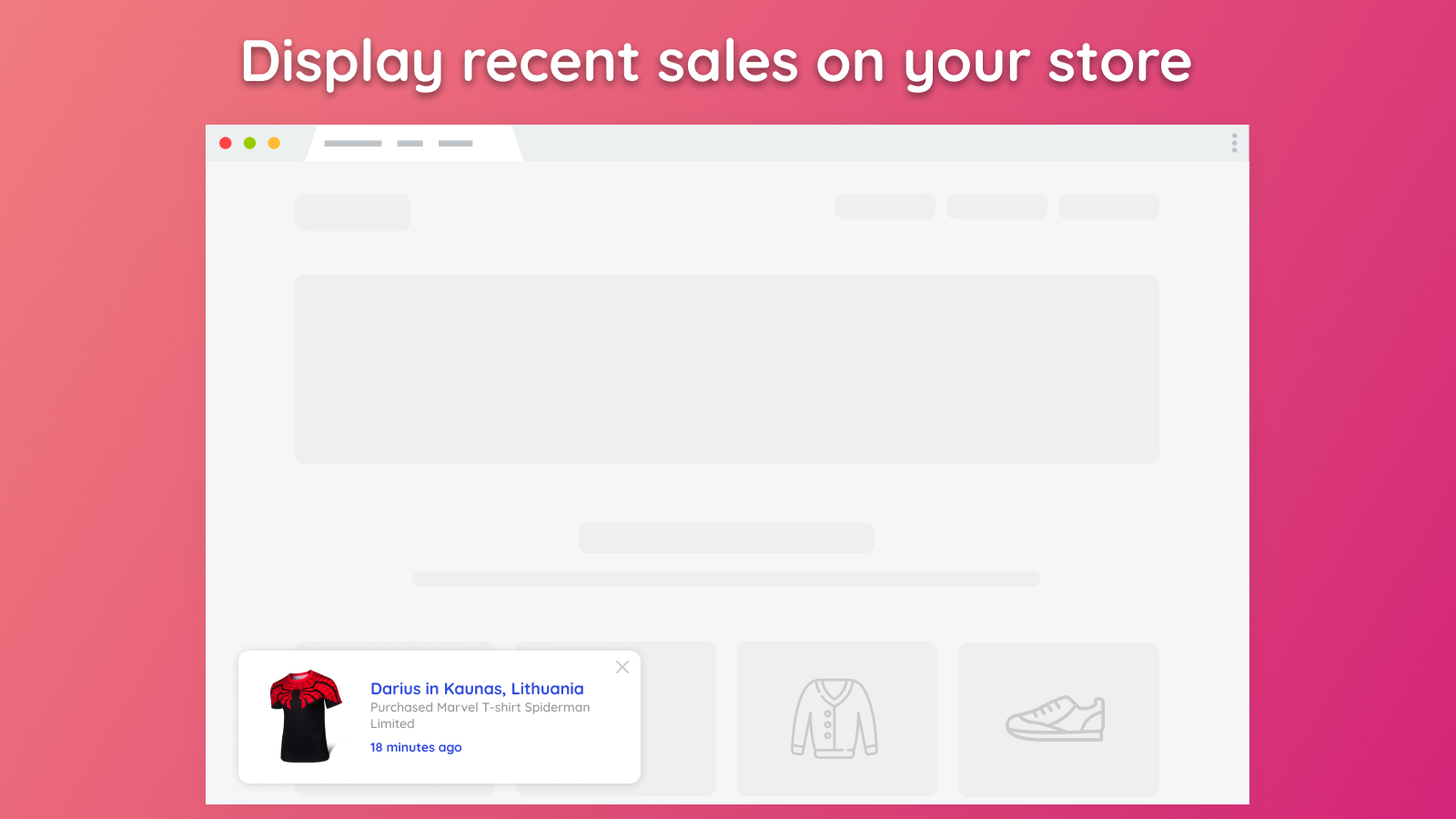 App for BigCommerce - Recent Sales Popups